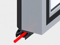 Обогрев нижней кромки полотна для дверей низкотемпературного исполнения