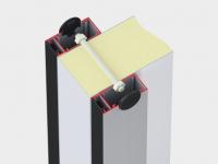 Внутренняя алюминиевая рама для обеспечения жесткости проема