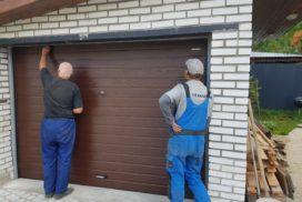 Ворота гаражные подъёмно-секционные DoorHan серии RSD01 в Токсово фото после