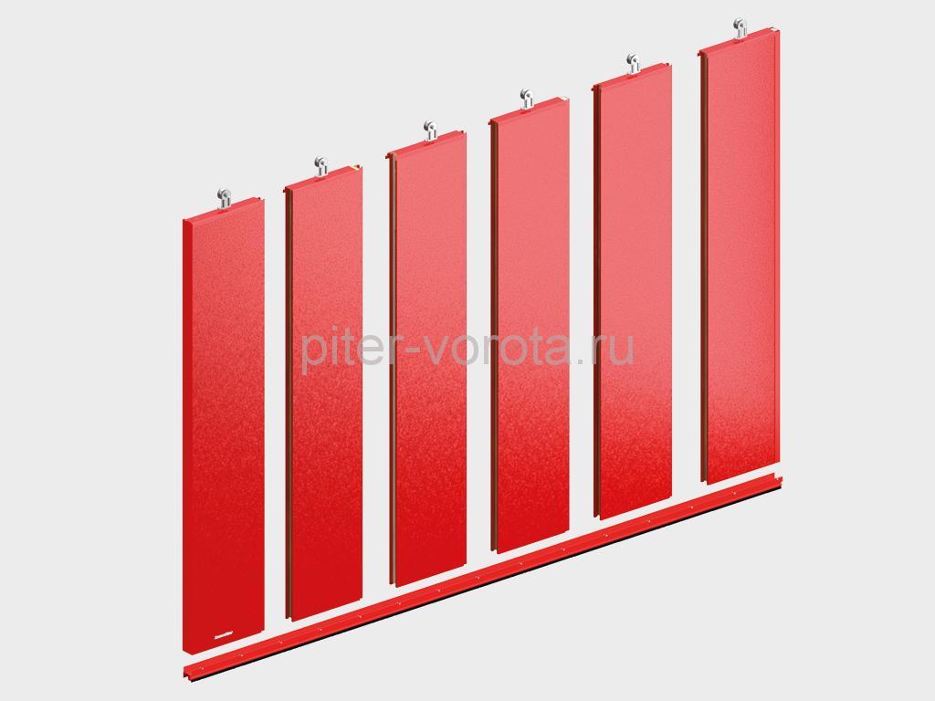 Щит ворот из стальных панелей толщиной 80 мм