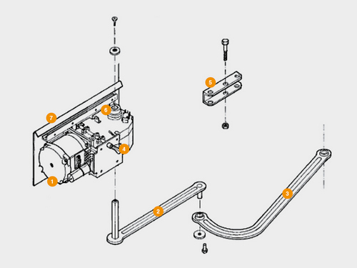 Фото конструкция привода Doorhan ARM-320PRO