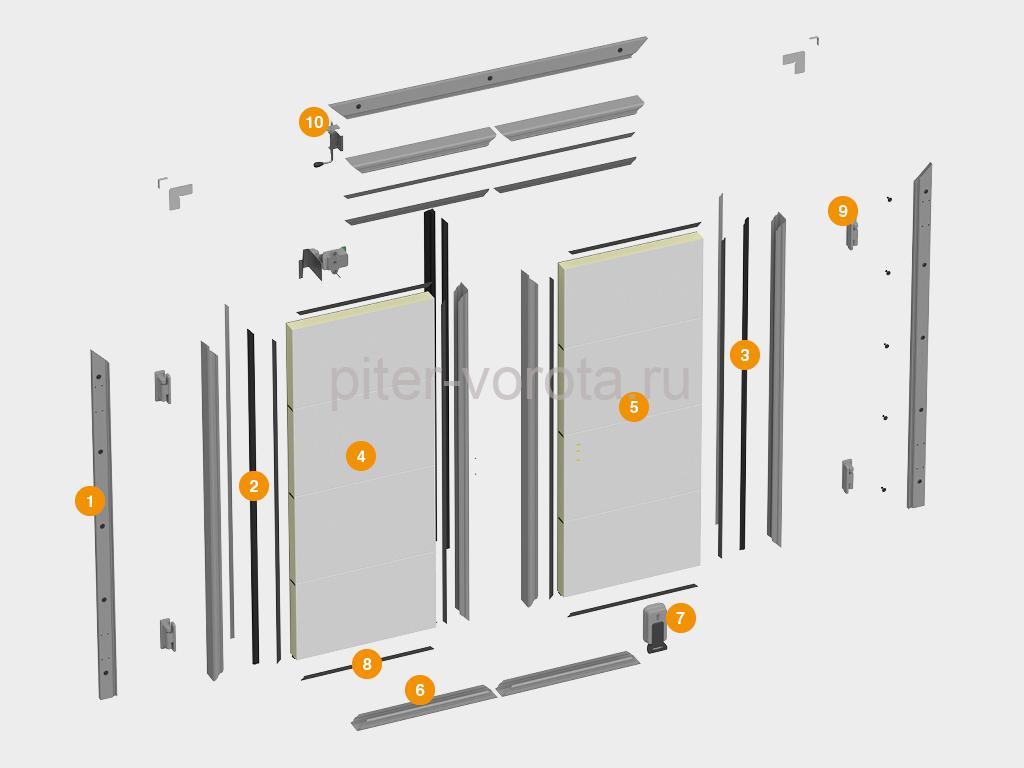 Конструкция холодильной двустворчатой двери