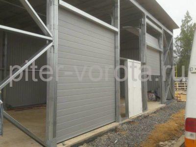 Промышленные подъёмно-секционные ворота DoorHan ISD01 в Юкки, фото 1