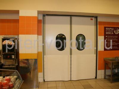Пластиковая маятниковая дверь DoorHan SWD торговом складе, фото 1