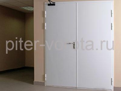 Дверь технологическая двухстворчатая для холодильной камеры DoorHan в помещении бара, фото 1
